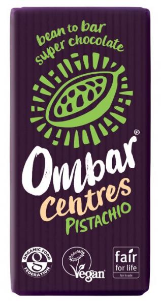 Ciocolata bio cu crema de fistic, 60% Cacao neprajita (RAW), 35G OMBAR 0
