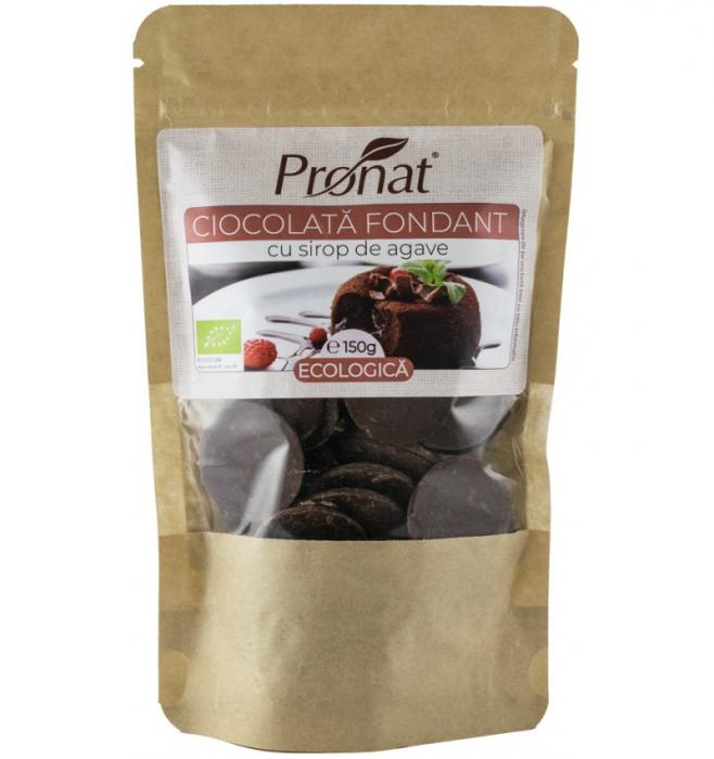 Ciocolata fondant bio cu sirop de agave 150G 0