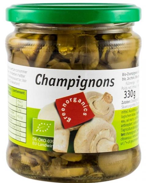 Ciuperci Champignon Bio, 330g/170g GREEN ORGANICS 0