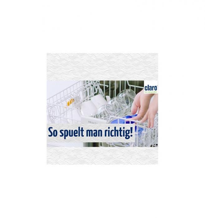 CLARO - pulbere concentrata pentru intretinerea masinii de spalat vase, 160G CLARO [2]