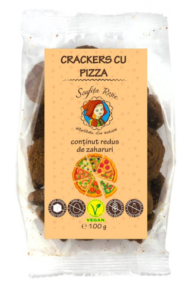 Crackers cu pizza, continut scazut de zaharuri, 100 g [0]