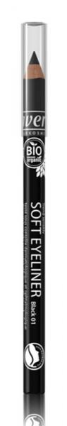 Creion contur delicat pentru ochi, nuanta 01 Negru Lavera 0