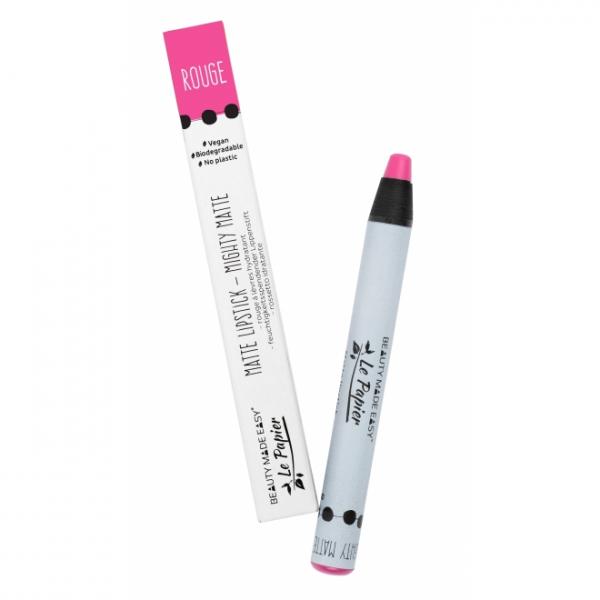 Creion - ruj hidratant mat, ROUGE, zero plastic, 6 g 0