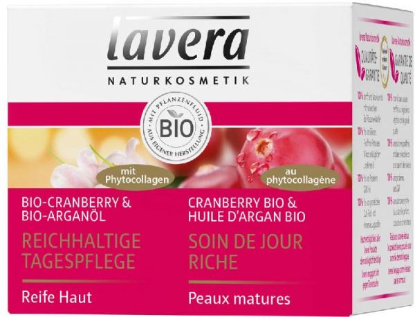 Crema de ingrijire pentru zi cu merisor Bio si ulei de argan Bio, 50ml Lavera 0