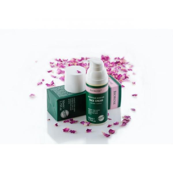 Crema faciala hranitoare, cu acid hialuronic, conenzima Q10, apa si ulei de trandafiri, 50 ml 0