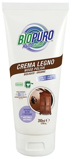 Crema/polish hipoalergen pentru curatarea, lustruirea si intretinerea lemnului bio 200ml -cu ulei de nuca, in, lamaie, scortisoara si cuisoare- 0