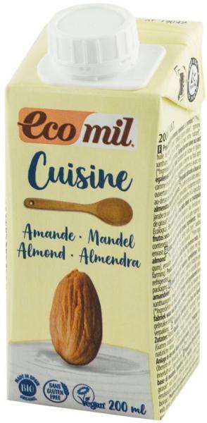 Crema vegetala bio din migdale, pentru gatit, 200 ml ECOMIL CUISINE 0