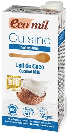 Crema vegetala BIO pentru gatit pe baza de cocos, 1000 ml ECOMIL CUISINE 0