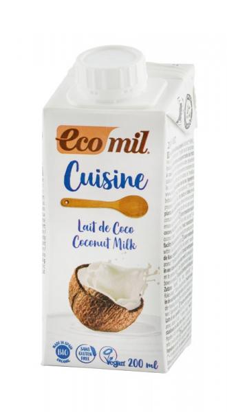 Crema vegetala Bio pentru gatit pe baza de cocos, 200 ml ECOMIL CUISINE 0