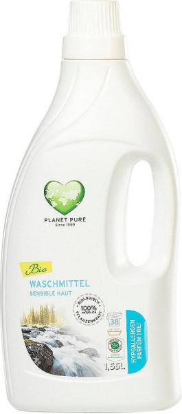 Detergent bio de rufe hipoalergenic -fara parfum, pentru pielea sensibila- 1.55L Planet Pure 0
