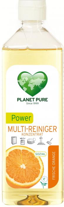 Detergent bio universal concentrat cu ulei de portocale Power Multi-Cleaner 510ml Planet Pure 1