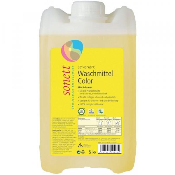 Detergent ecologic lichid pentru rufe colorate 5L 0