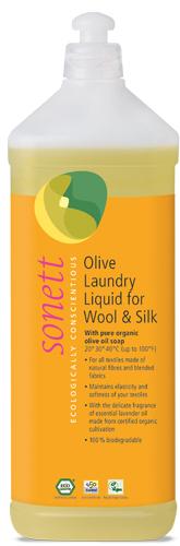 Detergent ecologic lichid pt. lana si matase 1L 0