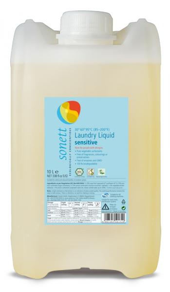 Detergent ecologic pentru rufe albe si colorate, SENSITIVE 10L 0