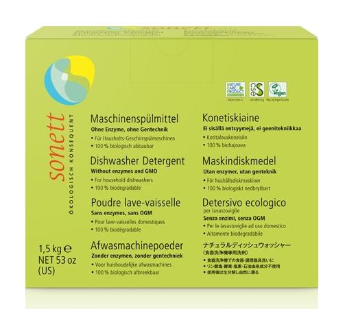 Detergent ecologic praf pt. masina de spalat vase, Sonett, 1.5kg 0