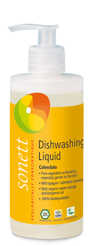 Detergent ecologic pentru spalat vase - galbenele, 300ml 0