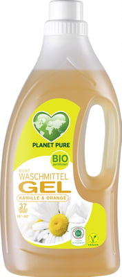Detergent GEL bio de rufe colorate -musetel si portocale - 1.5L Planet Pure 0