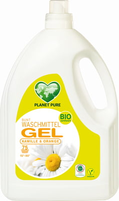 Detergent Gel bio de rufe colorate -musetel si portocale - 3L Planet Pure [0]
