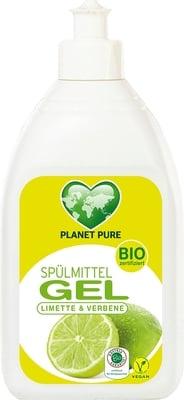 Detergent gel bio pentru vase cu lime si verbina 500ml Planet Pure [1]