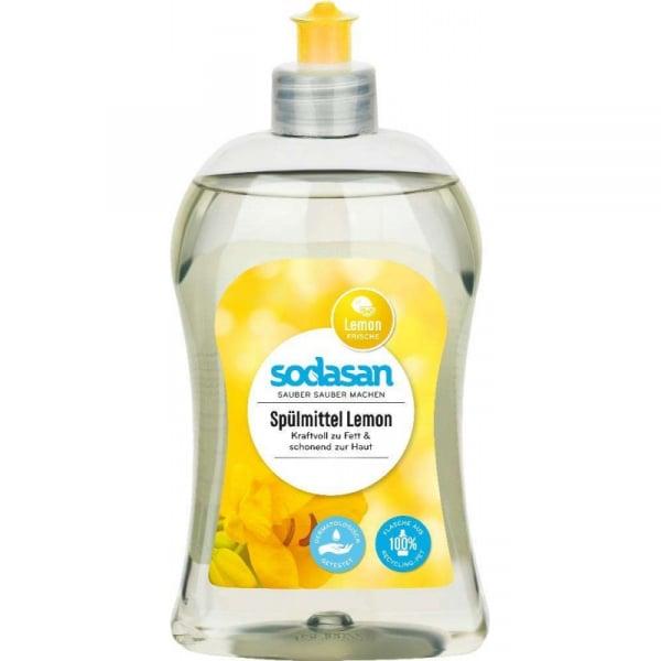Detergent lichid ecologic pentru vase cu lamaie 500ml 0
