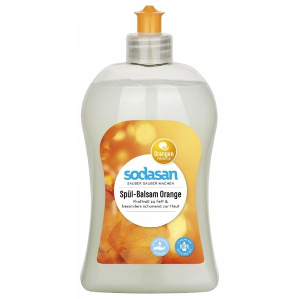 Detergent Vase Lichid Cu Balsam Bio Portocala 500ml 0