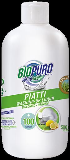 Detergent lichid pentru vase, 500ml Biopuro 0