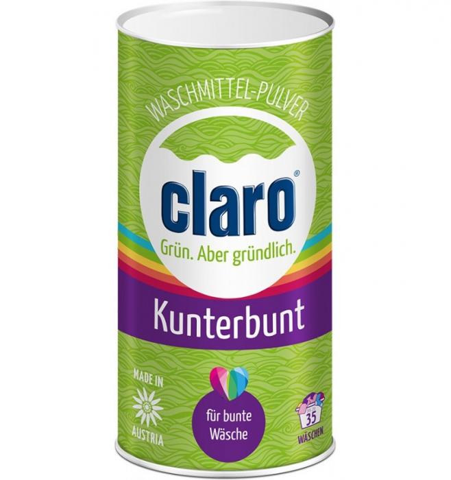 Detergent pulbere ecologica pentru haine colorate, 1 KG CLARO [0]