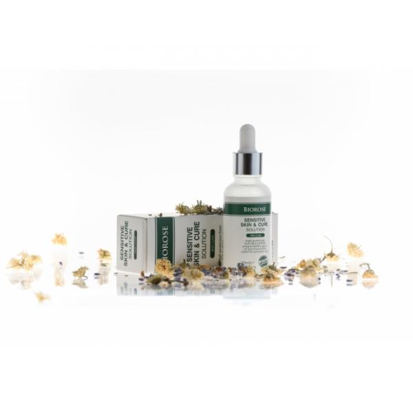 Elixir pentru piele sensibila cu geranium, apa de musetel si acid hialuronic, 30 ml 0