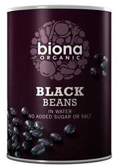 Fasole neagra boabe bio conserva 400g Biona 0