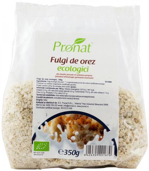 Fulgi de orez Bio, 350 g 0