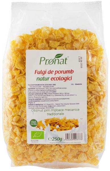 Fulgi de porumb natur, bio, 250 g 0
