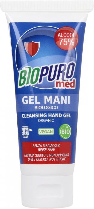 Gel igienizant pentru maini bio 75ml Biopuro cu 75% alcool 0