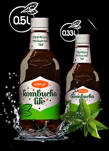 Bautura Kombucha Life cu papaya 500ml [0]