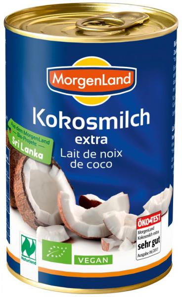 Lapte de cocos BIO extra, 400 ml MORGENLAND 0