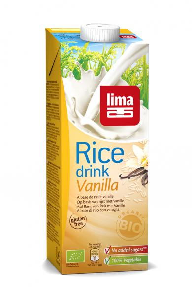 Lapte de orez cu vanilie bio 1 L 0