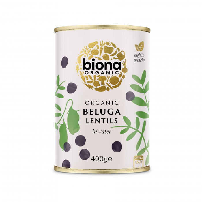 Linte neagra Beluga bio la conserva 400g Biona fara sare [0]