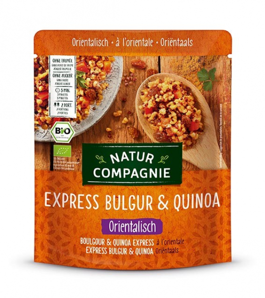 Mancare BIO de bulgur si quinoa în stil oriental, Express, 250 g Natur Compagnie [0]