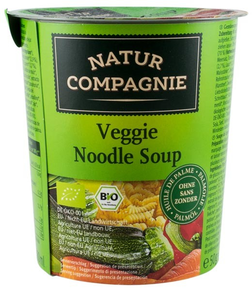 Mancare la cana - Supa vegetariana cu taitei bio, 50g NATUR COMPAGNIE 0