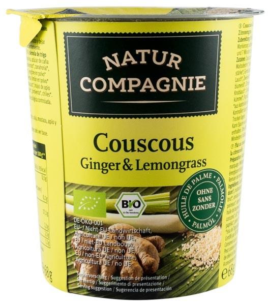 Mancare la pahar Cuscus Ginger & Lemongrass, BIO NATUR COMPAGNIE 0