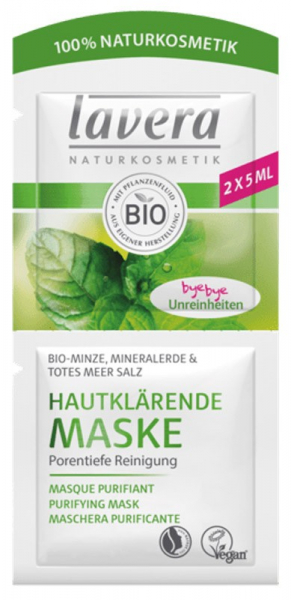 Masca bio purificatoare pentru piele, 2x5ml Lavera 0