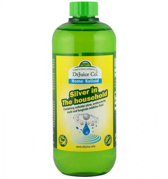 Solutie antibacteriana cu argint coloidal pentru casa, 500 ml DrJuice 0