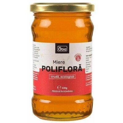 Miere poliflora cruda bio 430g 0