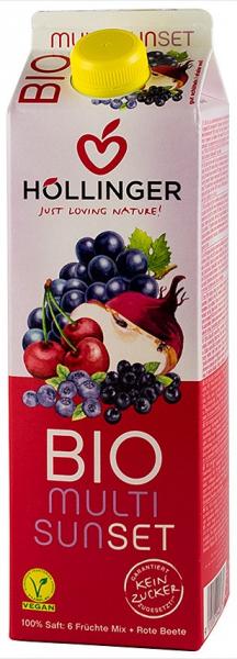 Multi Sunset suc BIO de fructe si sfecla rosie, 1L HOLLINGER 0