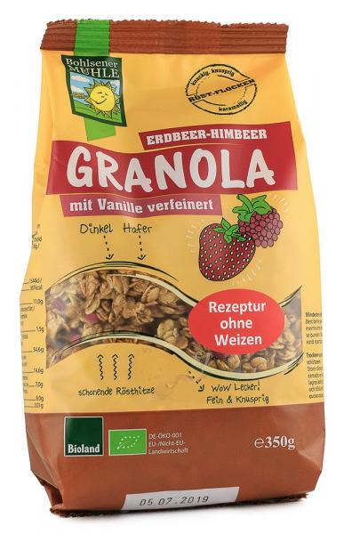 Musli BIO Granola cu zmeura si capsuni, 350 g Bohlsener Muhle 0