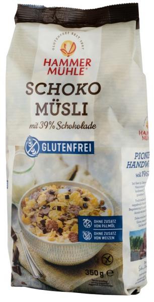 Musli cu 39% ciocolata, 350 g HAMMER MUHLE 0