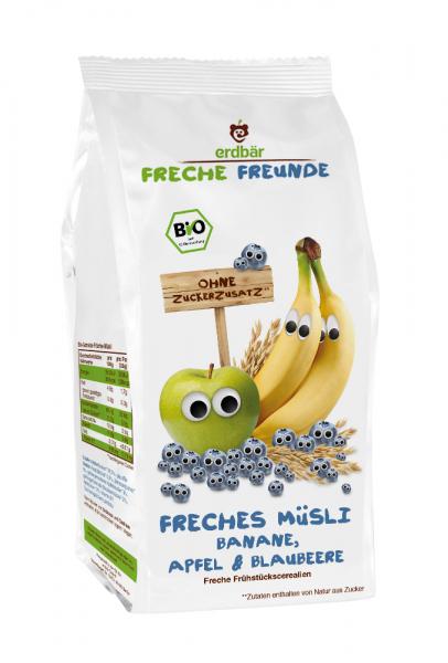 Musli cu banane, mere si afine bio 200g [0]