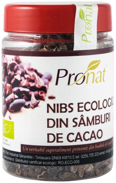 Nibs Bio din samburi de cacao, 130 g 0