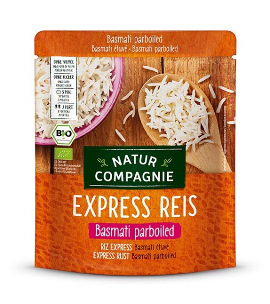 Orez Basmati BIO cu bob lung, prefiert, Express Reis, 250 g Natur Compagnie [0]