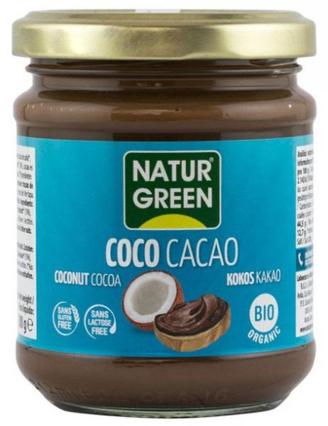 PASTA BIO DE COCOS CU CACAO, 200G NATUR GREEN 0