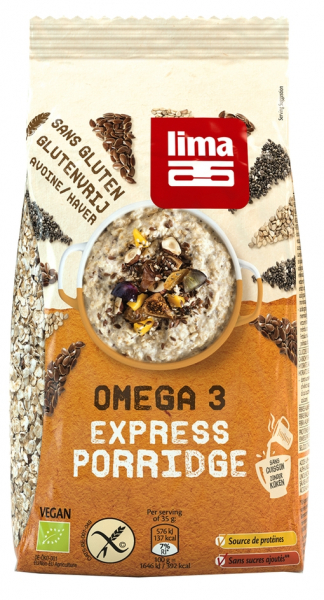 Porridge Express Omega 3 fara gluten bio 350g Lima 0